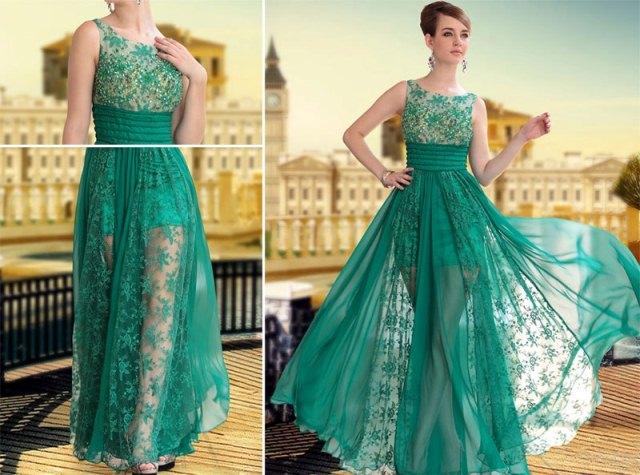 abiye dantel elbise modeli