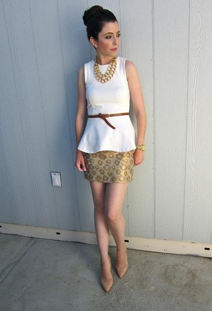 beyaz abiye bluz modeli