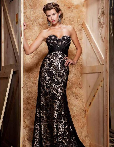 dantel abiye elbise modelleri