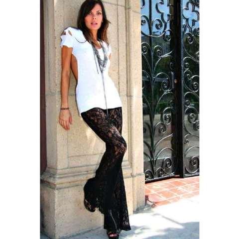 dantel abiye pantolon modelleri
