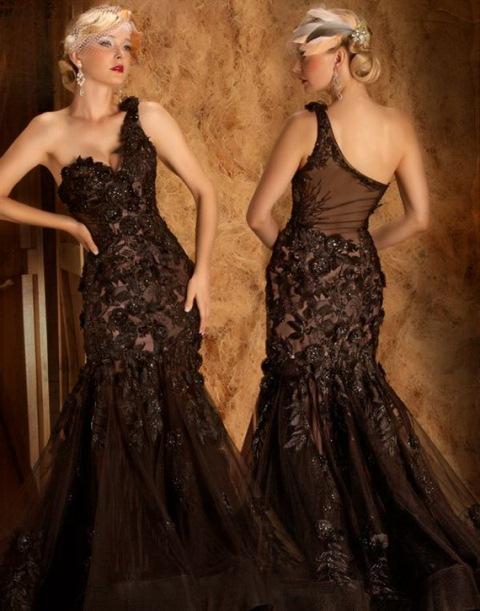 dantel uzun abiye elbise modelleri
