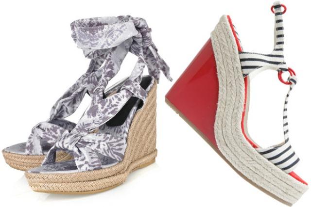 denizci desenli sandalet modeli