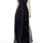 en moda siyah uzun mezuniyet elbisesi
