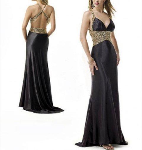 en trend siyah abiye elbise modelleri