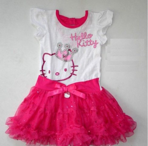 hello kitty li elbise modeli