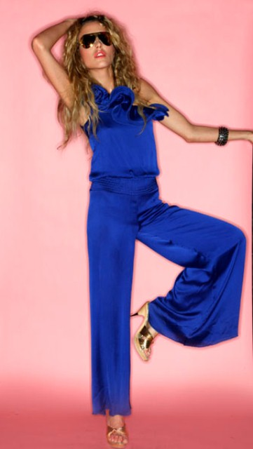mavi abiye pantolon tulum modelleri