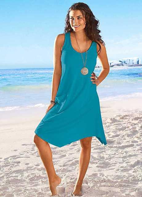 mavi plaj elbisesi