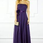 mor uzun mezuniyet elbisesi modeli