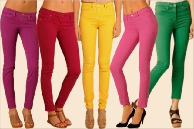 neon renklerde pantolon modelleri
