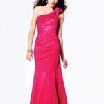 pembe uzun mezuniyet elbisesi modeli