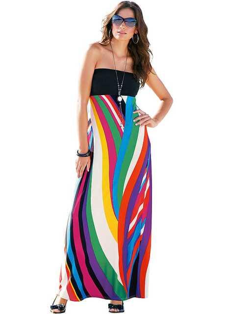 renkli plaj elbisesi