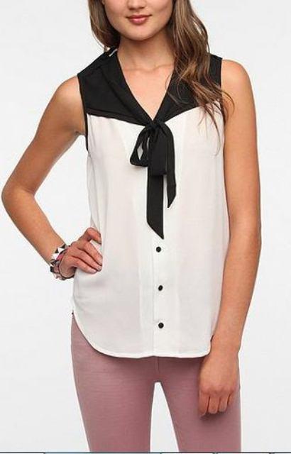siyah beyaz abiye bluz