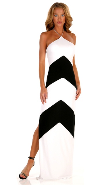 siyah beyaz abiye elbise modelleri
