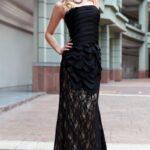 siyah dantel abiye elbise modelleri