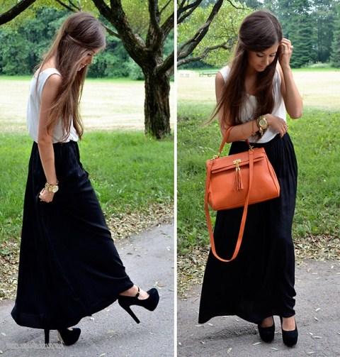 siyah uzun etek modeli