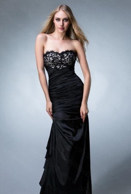 siyah uzun mezuniyet elbisesi