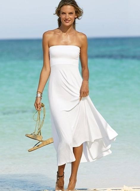 straplez plaj elbiseleri