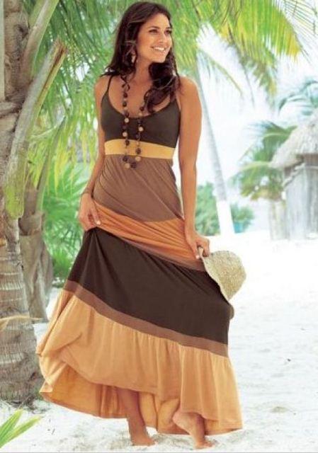 uzun plaj elbisesi modelleri