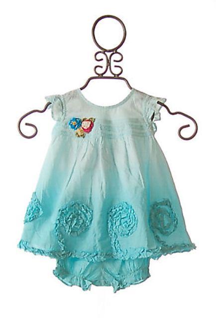 mavi bebek elbisesi