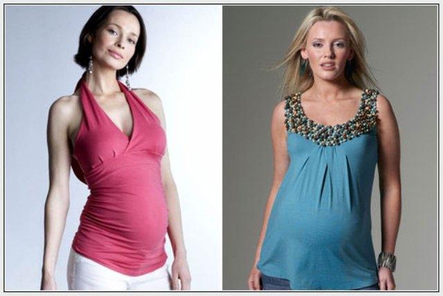 mavi hamile bluzu