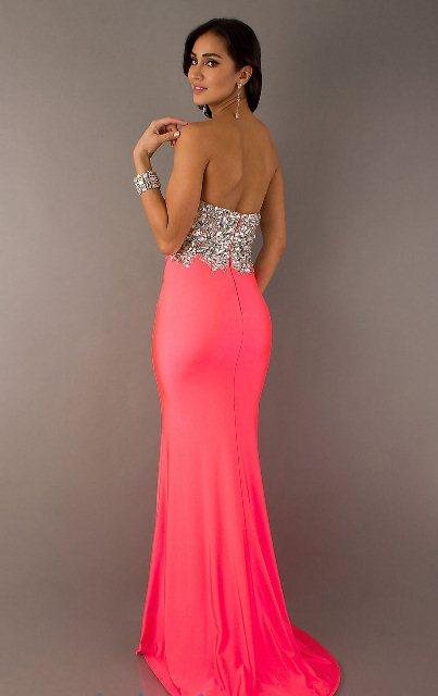 neon rengi gece elbisesi