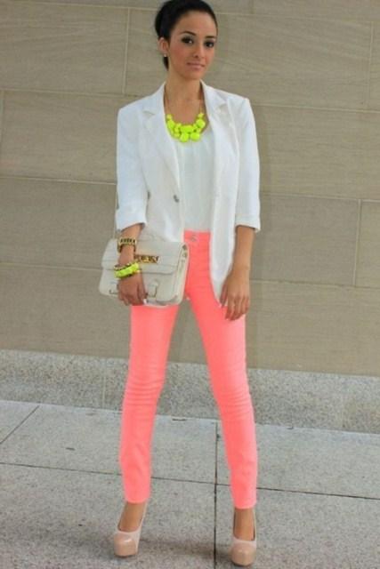neon rengi pantolona