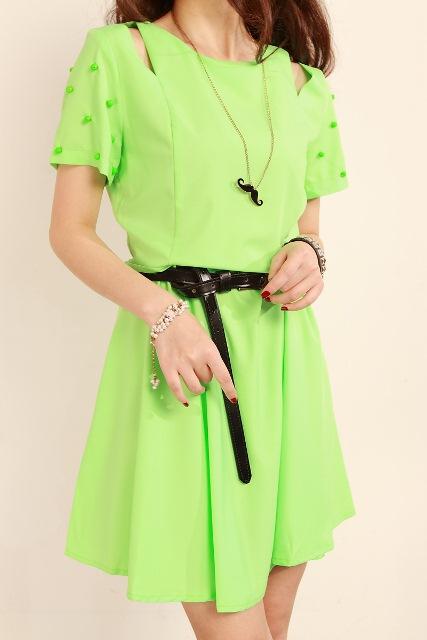neon renk elbise