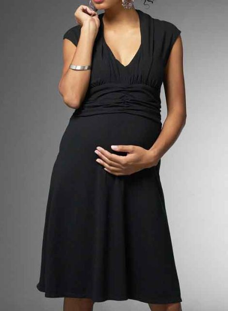 siyah hamile elbisesi