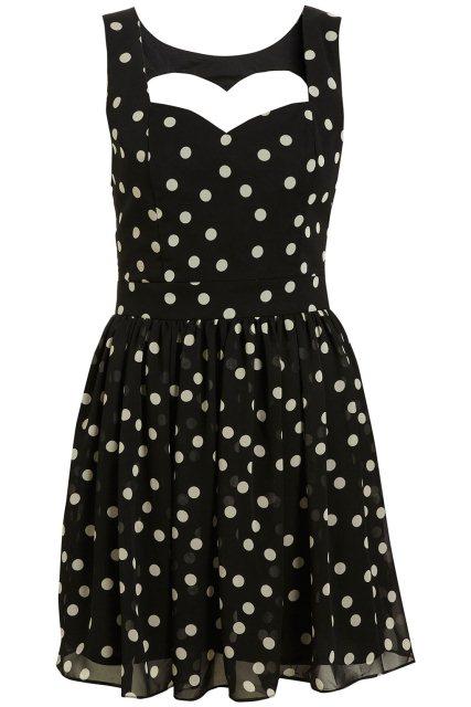 siyah puantiyeli elbise modeli