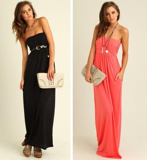 siyah uzun elbise modeli