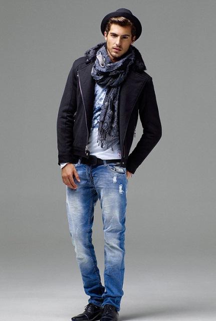 zara erkek kot pantolon modeli