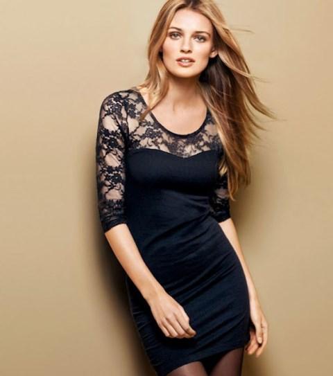 H & M dantel elbise