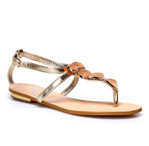 metalik renk sandaletler
