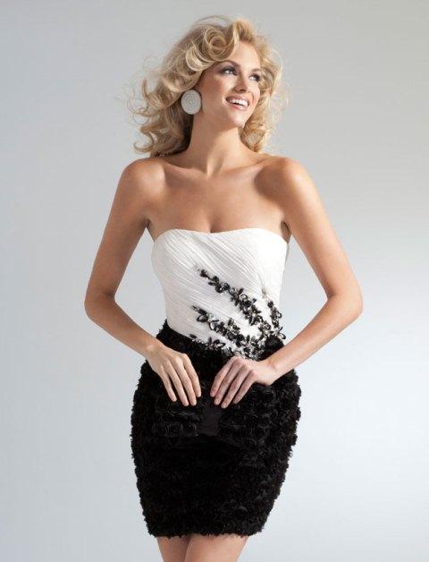 straplez beyaz abiye elbise