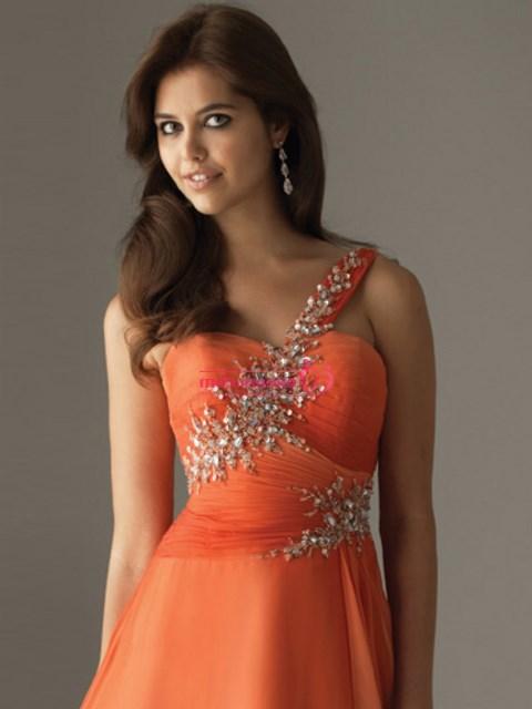 turuncu abiye elbise