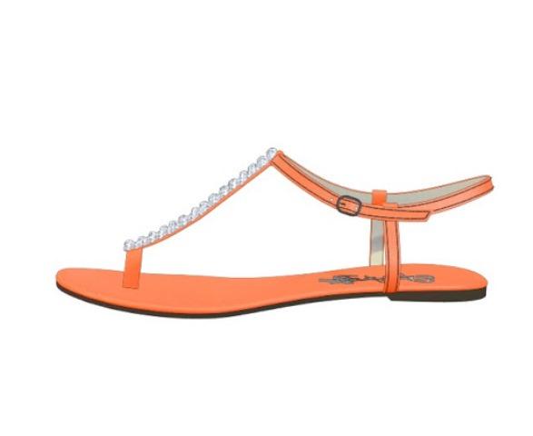 turuncu sandalet