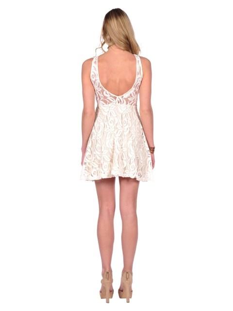 floral desenli dantel elbise