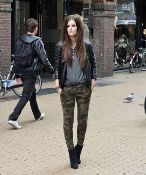 kamuflaj desenli pantolon modeli