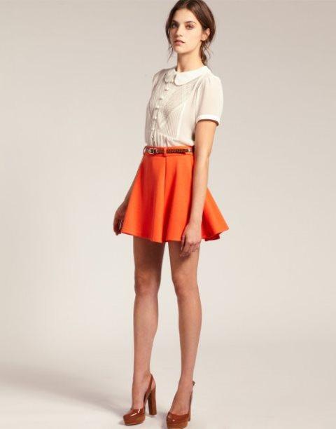 turuncu etek modeli