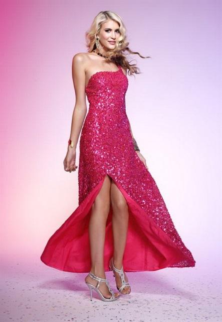 uzun payetli abiye elbise