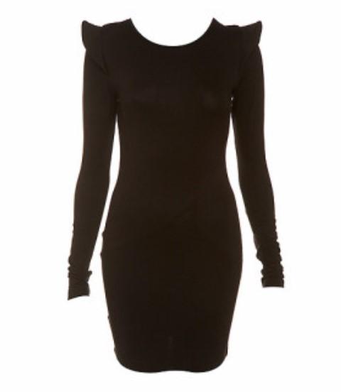 topshop siyah elbise