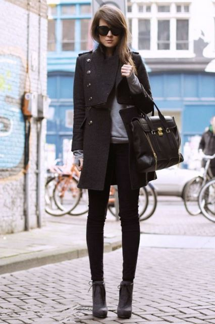 Siyah palto modelleri