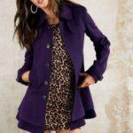 mor bayan palto modeli