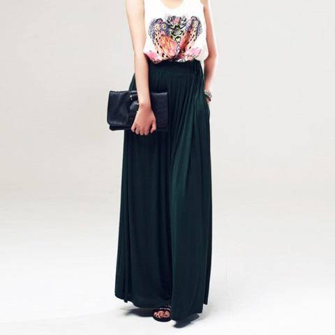 siyah uzun pantolon etek modeli