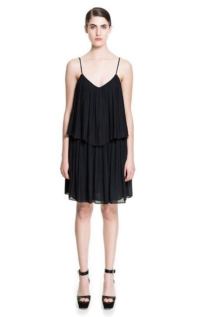 zara 2014 ilkbahar yaz koleksiyonu - zara kolsuz elbise modeli