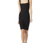 siyah abiye bandaj elbise modeli
