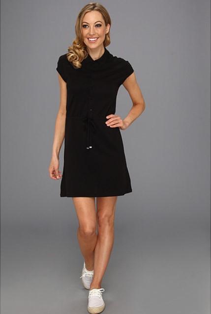 siyah polo elbise modeli