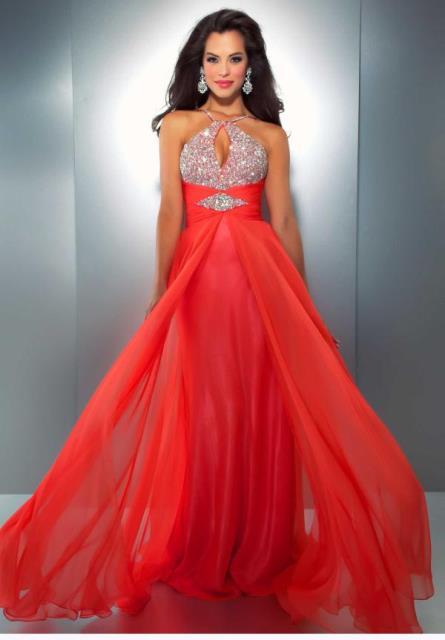 mercan rengi abiye elbise modeli - turuncu abiye elbise
