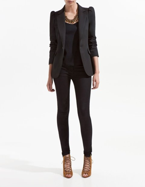 bayan blazer ceket - siyah bayan blazer ceket modelleri
