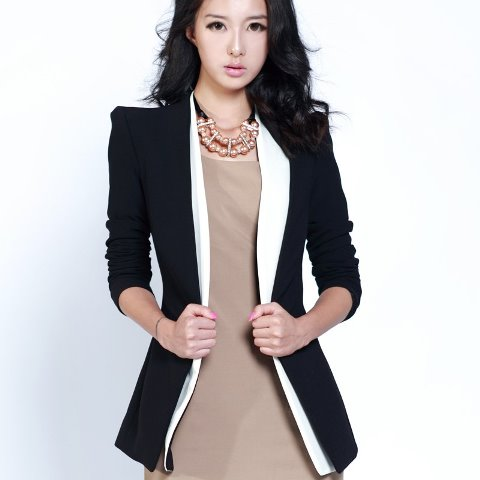 bayan blazer ceket - siyah smokin yaka blazer ceket modeli